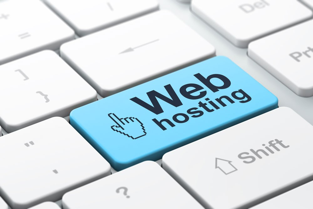 An image of a keyboard with a Web hosting key