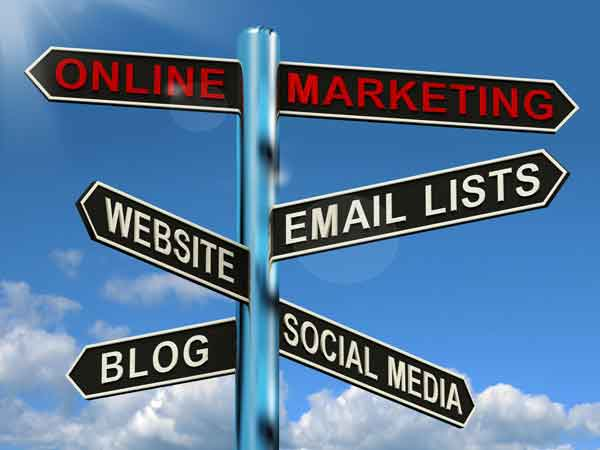 online marketing blogs websites social media and email